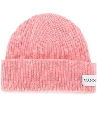 Ganni - Ribbed Knit Beanie - Lyst