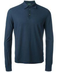 Zanone - Longsleeved Polo Shirt - Lyst