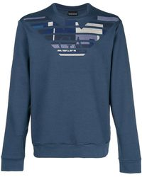 Emporio Armani - Pattern Logo Sweatshirt - Lyst
