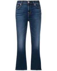 7 For All Mankind - Bootcut-Jeans mit Stone-Wash-Effekt - Lyst