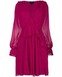 Giambattista Valli - Ruffled Gathered Dress - Lyst