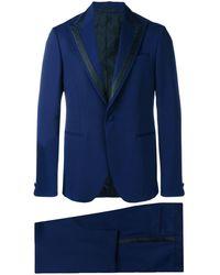 Versace - Traje en jacquard con botones - Lyst