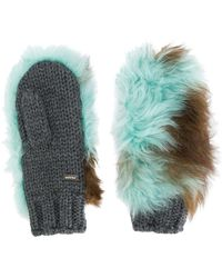 Prada - All Designer Products - Shearling Mittens - Lyst