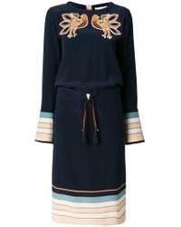Antonia Zander - Embroidered Bird Dress - Lyst