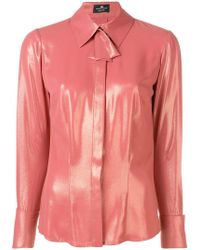 Elisabetta Franchi - Perfectly Fitted Shiny Blouse - Lyst