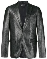 Just Cavalli - Metallic Button Blazer - Lyst
