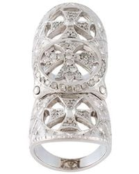 Loree Rodkin - Diamond Cross Long Ring - Lyst