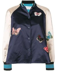 Valentino - Butterfly Embroidered Bomber Jacket - Lyst