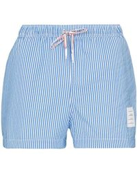 8326f3152b Thom Browne Floral & Dolphin-print Swim Trunks in Blue for Men - Lyst
