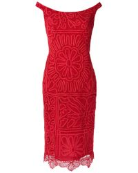 Martha Medeiros - Lace Midi Dress - Lyst