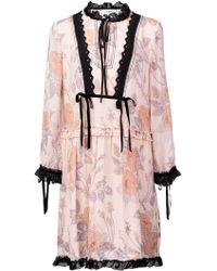 COACH - Rose Print Dress - Lyst