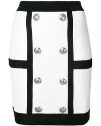 Balmain - Double Breasted Mini Skirt - Lyst