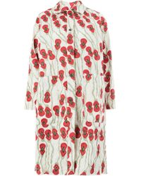 Miaoran - Embroidered Flowers Coat - Lyst