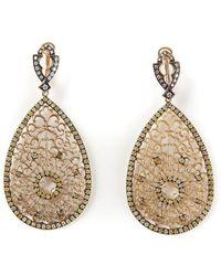 Loree Rodkin - Filigree Diamond Tear Drop Earrings - Lyst