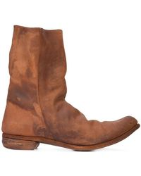 A Diciannoveventitre - Relaxed Distressed Boots - Lyst