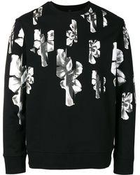 Neil Barrett Sweatshirt mit Blumen-Print