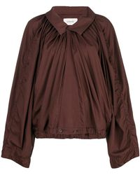 Lemaire - Boxy-fit Pleated Blouse - Lyst