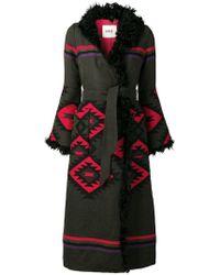 Bazar Deluxe - Aztec Shearling Coat - Lyst