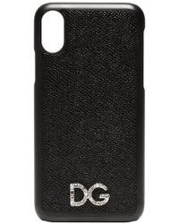 Dolce & Gabbana - Black Textured Leather Iphone X Case - Lyst