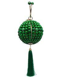 Rosantica - Green Billie Bead Wood And Metal Clutch Bag - Lyst