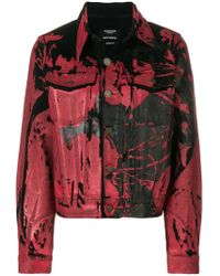 CALVIN KLEIN 205W39NYC - Painted Print Denim Jacket - Lyst