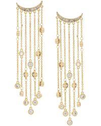 FEDERICA TOSI - Crystal Chain Drop Earrings - Lyst