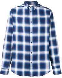 Natural Selection Slate Checked Shirt - Blue