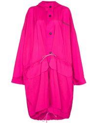 House of Holland - Oversized Hooded Raincoat - Lyst