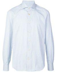 Kiton - Micro-check Shirt - Lyst