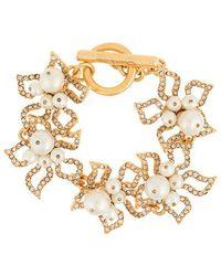 Oscar de la Renta - Faux-pearl Embellished Bracelet - Lyst