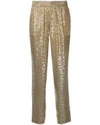 LAYEUR - Metallic Tapered Trousers - Lyst