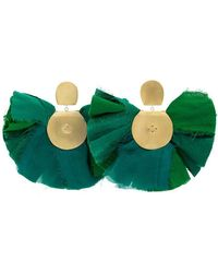 Katerina Makriyianni - Silk Fan Earrings - Lyst