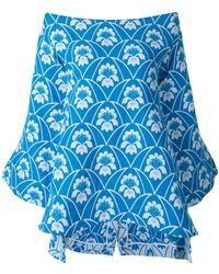 Richard Malone - Off Shoulder Printed Top - Lyst