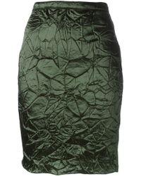 Nina Ricci - Crease Effect Skirt - Lyst