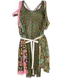 Erika Cavallini Semi Couture - Tie Waist Printed Tunic - Lyst