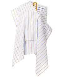 Palmer//Harding - Jasmine Striped Asymmetric Tunic - Lyst