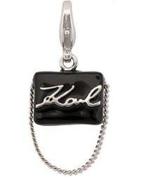 Karl Lagerfeld - Karl Handbag Necklace Charm - Lyst