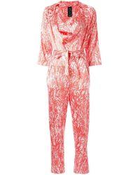 Zero + Maria Cornejo - Abstract Print Jumpsuit - Lyst
