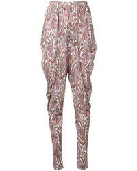 Isabel Marant - Paisley Print Loose Trousers - Lyst