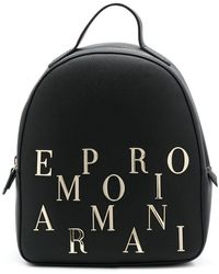 Emporio Armani - Logo Embellished Backpack - Lyst