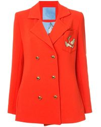 Macgraw - Double Breasted Swan Crest Blazer - Lyst