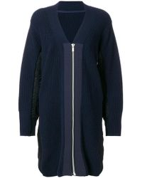 Sacai | Ovoid Zip-up Cardigan | Lyst