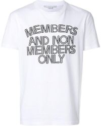 Stella McCartney - Members And Non Members Only T-shirt - Lyst
