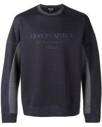 Giorgio Armani - Round Neck Jumper - Lyst