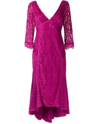 Martha Medeiros - V-neck Lace Dress - Lyst