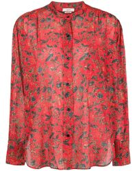 Étoile Isabel Marant - Floral Long-sleeve Blouse - Lyst