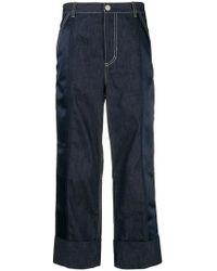 3.1 Phillip Lim - Wide Leg Cropped Jeans - Lyst
