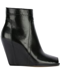 Rick Owens - Open-toe Wedge Ankle Boots - Lyst