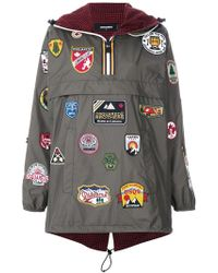 DSquared² - Travel Patch Wind Breaker - Lyst