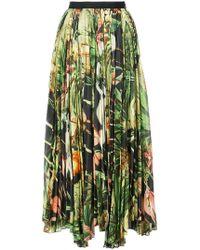 Adam Lippes - Printed Pleated Skirt - Lyst